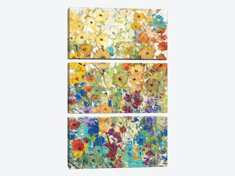 Meadow Floral I by Tim O'Toole 3-piece Canvas Wall Art
