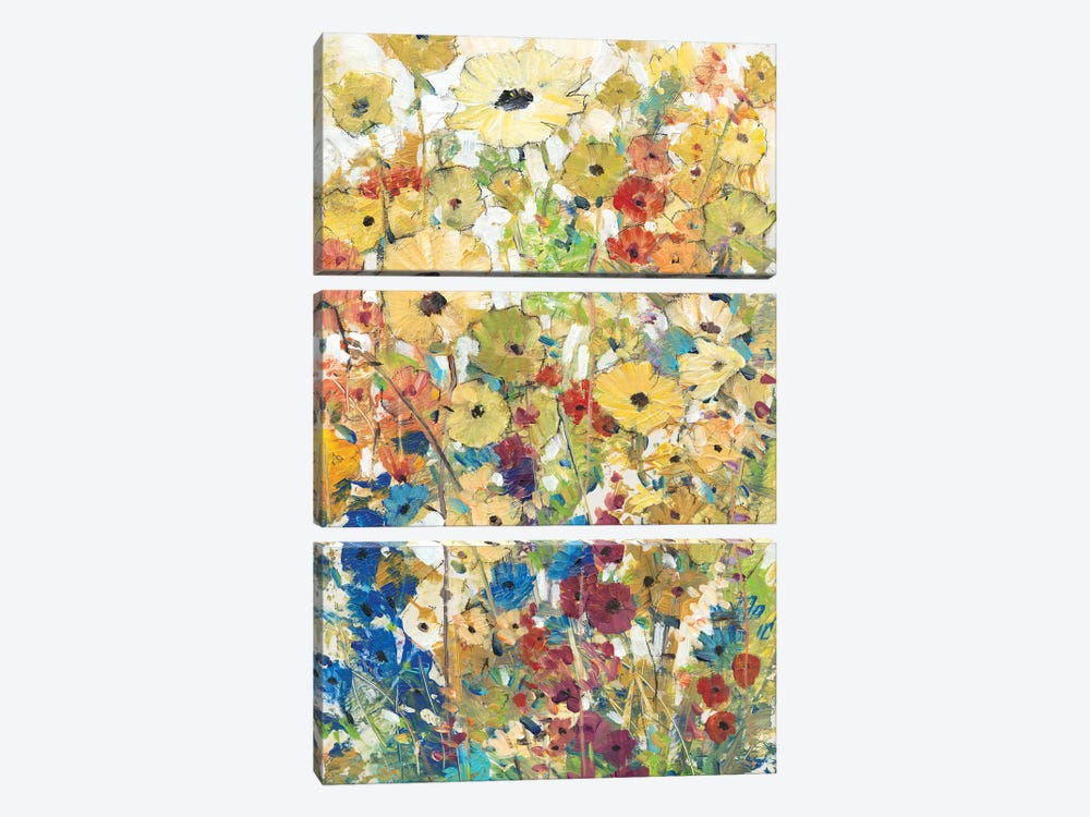 Meadow Floral II 3-piece Canvas Print