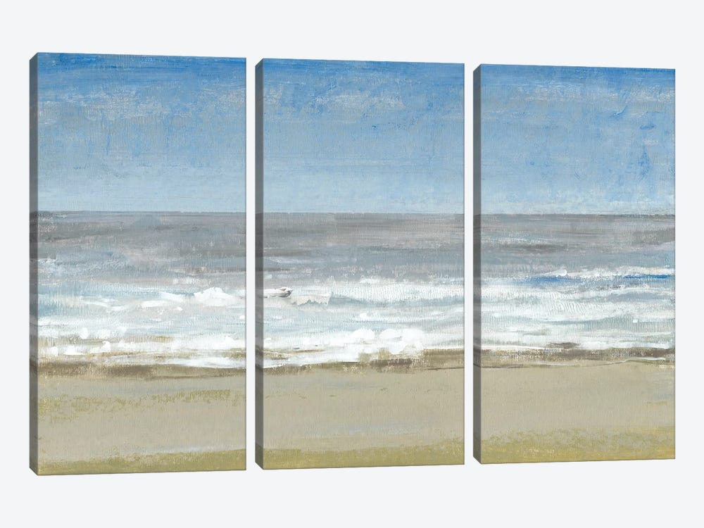 Beach Walking Day I by Tim O'Toole 3-piece Canvas Print