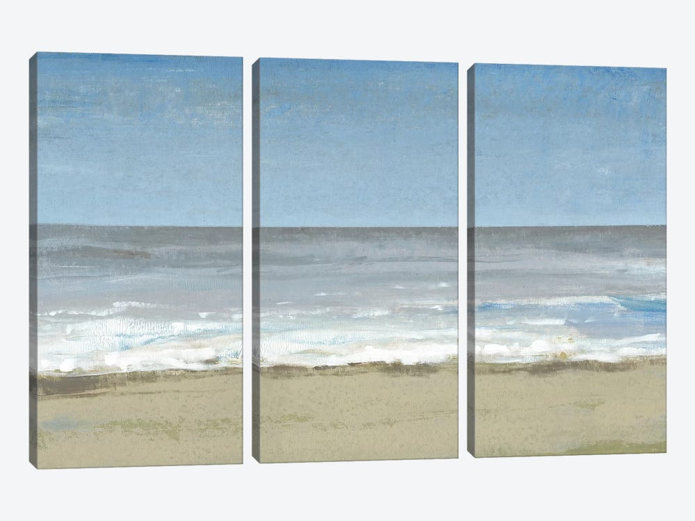 Beach Walking Day II by Tim OToole 3-piece Canvas Art Print