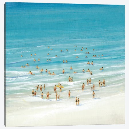 Ocean Swim I Canvas Print #TOT147} by Tim OToole Art Print