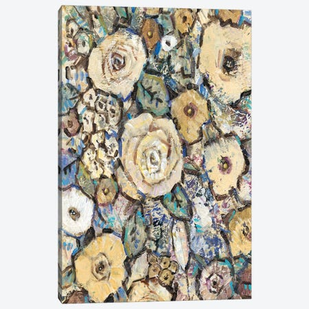 Decorative Flowers I Canvas Print #TOT162} by Tim OToole Canvas Artwork