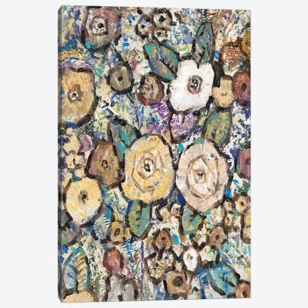 Decorative Flowers II Canvas Print #TOT163} by Tim OToole Canvas Wall Art