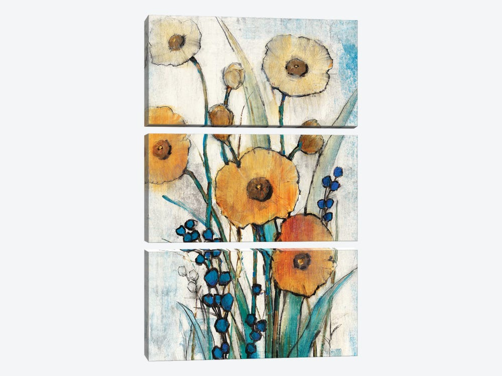 Spring Joy I by Tim OToole 3-piece Canvas Wall Art