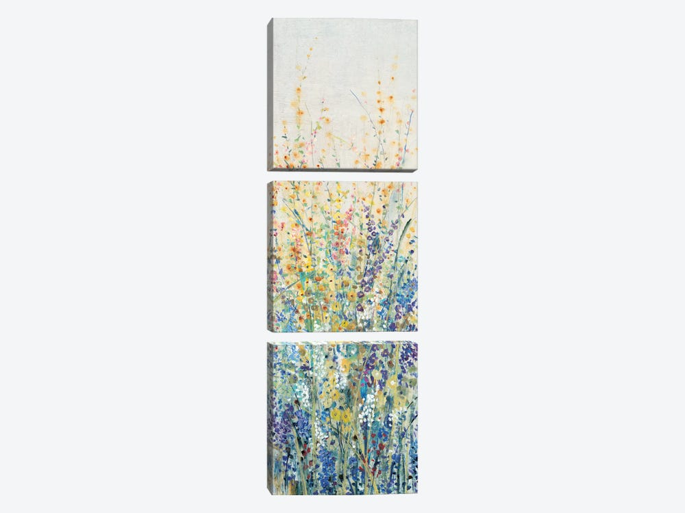 Wildflower Panel I by Tim O'Toole 3-piece Canvas Artwork