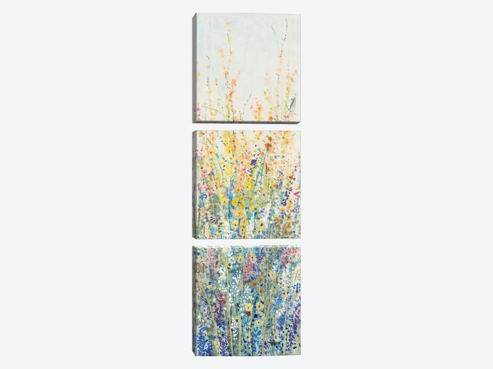 Wildflower Panel II by Tim OToole 3-piece Canvas Art Print