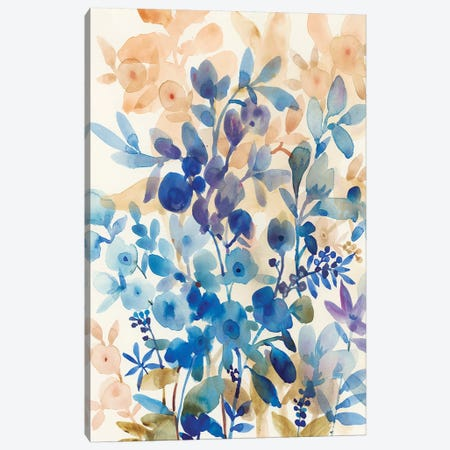 Blueberry Floral I Canvas Print #TOT188} by Tim OToole Canvas Art