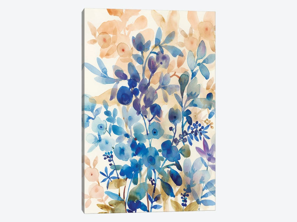 Blueberry Floral I by Tim O'Toole 1-piece Canvas Art