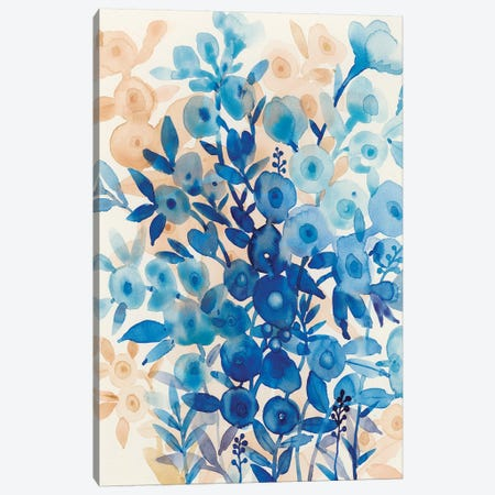 Blueberry Floral II Canvas Print #TOT189} by Tim OToole Canvas Art