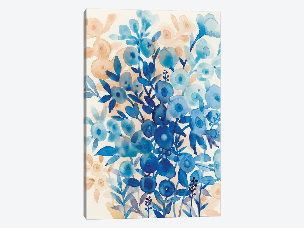 Blueberry Floral II by Tim O'Toole 1-piece Canvas Art Print