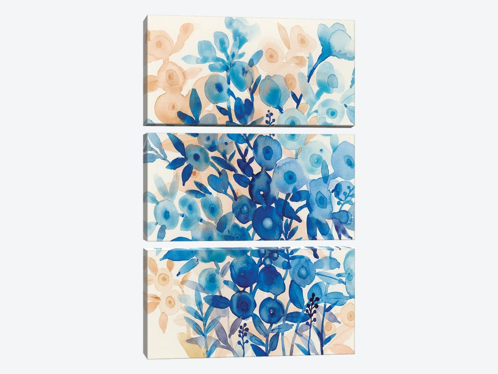 Blueberry Floral II by Tim O'Toole 3-piece Canvas Art Print