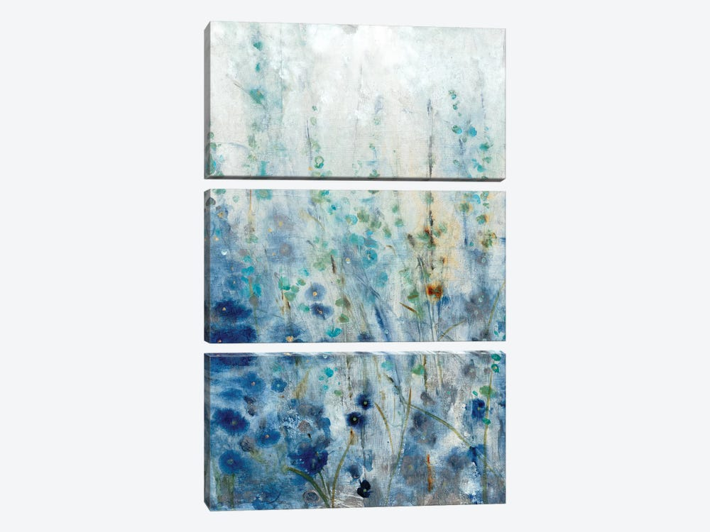 Misty Blooms II 3-piece Canvas Art Print