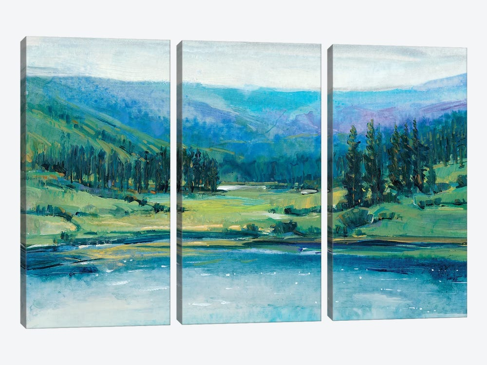 Mountain Lake I by Tim OToole 3-piece Canvas Artwork