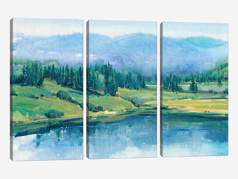 Mountain Lake II by Tim OToole 3-piece Canvas Art Print