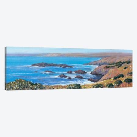 Panoramic Ocean View I 3-Piece Canvas #TOT210} by Tim OToole Canvas Wall Art