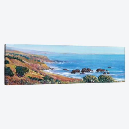 Panoramic Ocean View II 3-Piece Canvas #TOT211} by Tim OToole Canvas Wall Art