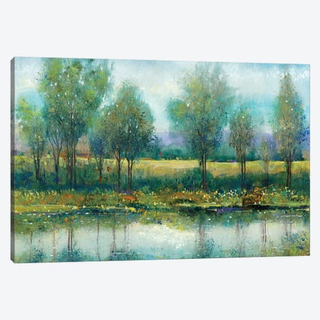 River Reflection II 3-Piece Canvas #TOT217} by Tim OToole Canvas Art Print