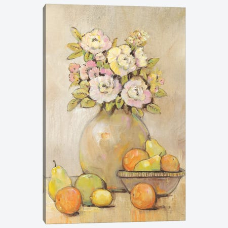 Still Life Study Flowers & Fruit II Canvas Print #TOT227} by Tim OToole Canvas Wall Art