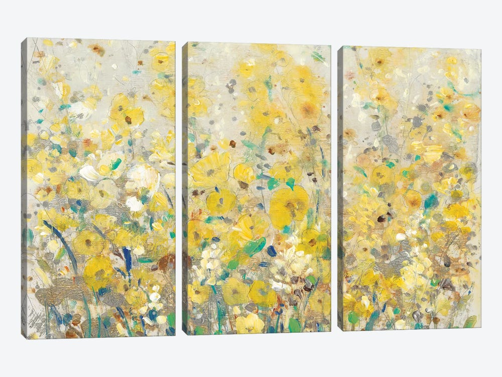 Cheerful Garden I by Tim O'Toole 3-piece Canvas Art Print