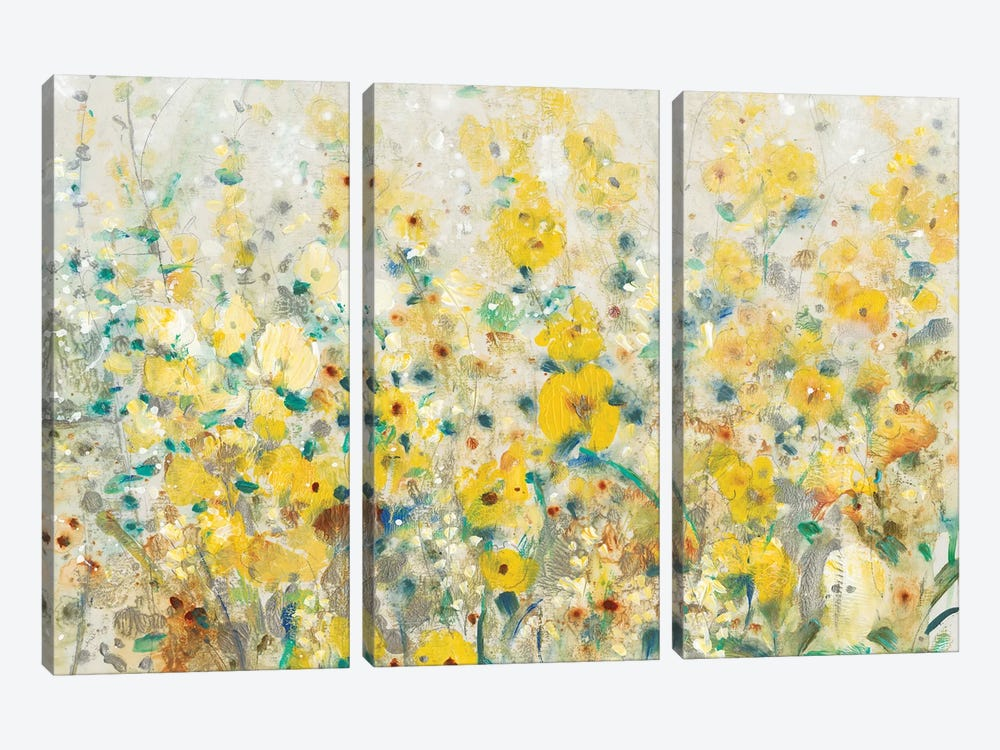 Cheerful Garden II 3-piece Canvas Wall Art