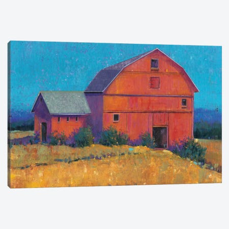 Colorful Barn View I Canvas Print #TOT238} by Tim OToole Canvas Art