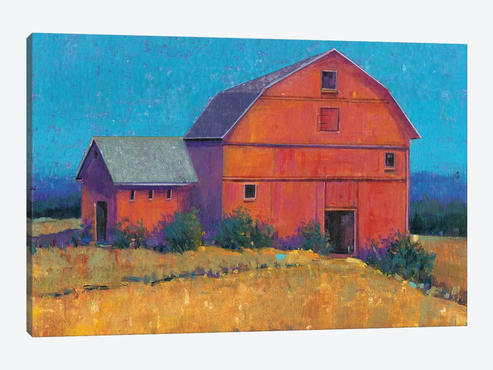 Colorful Barn View I by Tim O'Toole 1-piece Canvas Print