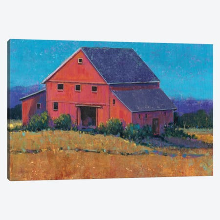 Colorful Barn View II Canvas Print #TOT239} by Tim OToole Canvas Wall Art