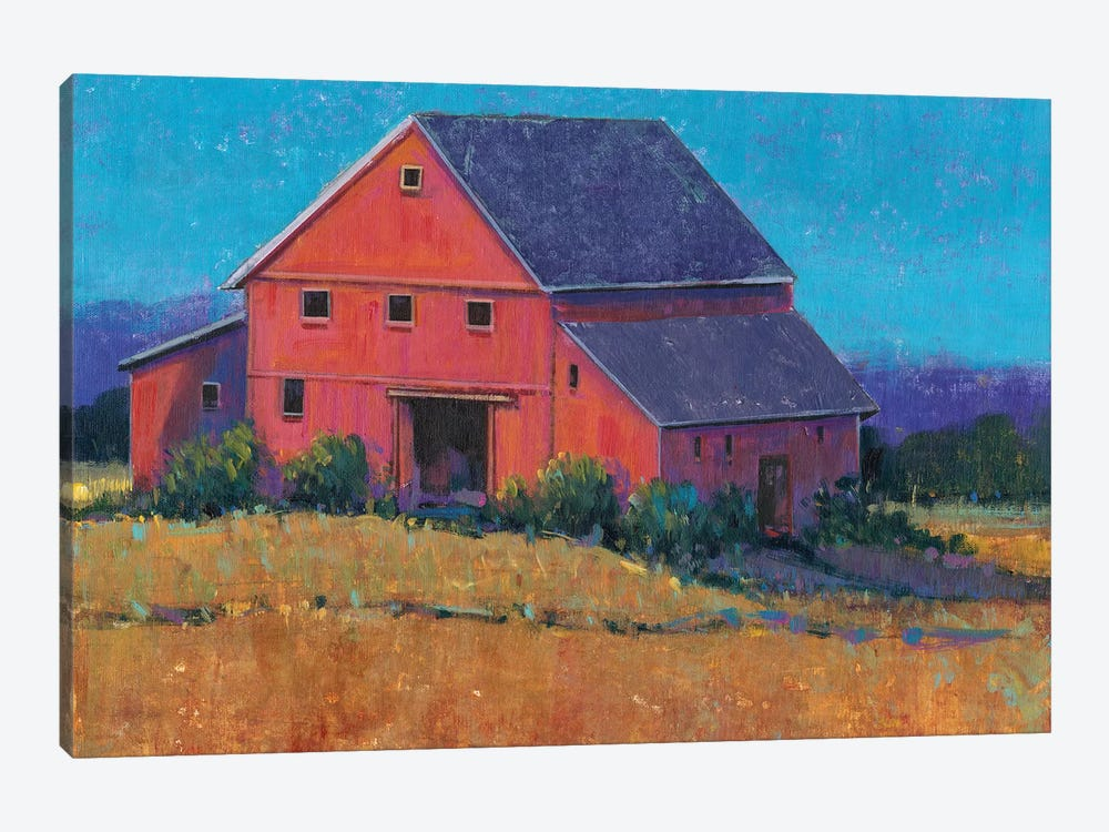 Colorful Barn View II by Tim OToole 1-piece Canvas Art
