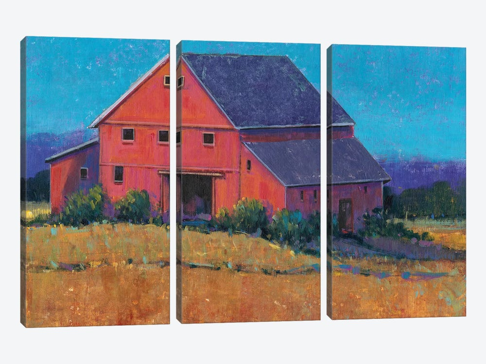 Colorful Barn View II by Tim OToole 3-piece Canvas Art