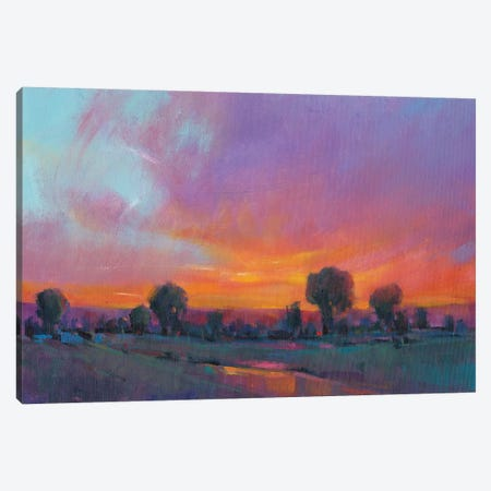 Fiery Sunset I Canvas Print #TOT244} by Tim OToole Canvas Art