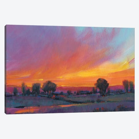 Fiery Sunset II Canvas Print #TOT245} by Tim OToole Canvas Wall Art