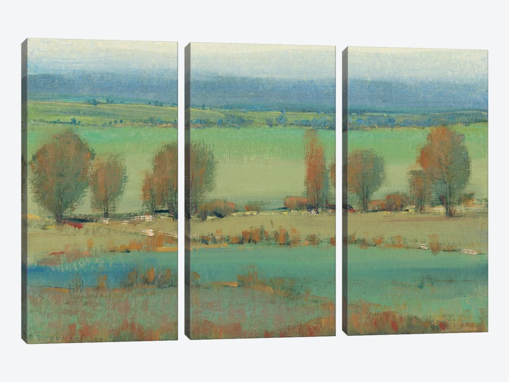 Flat Terrain II by Tim OToole 3-piece Canvas Art Print