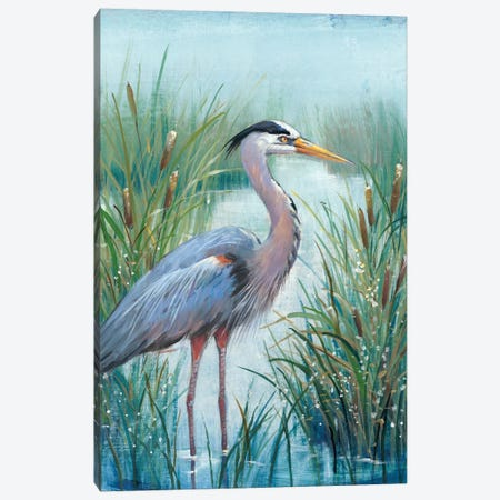 Marsh Heron I 3-Piece Canvas #TOT256} by Tim OToole Canvas Print