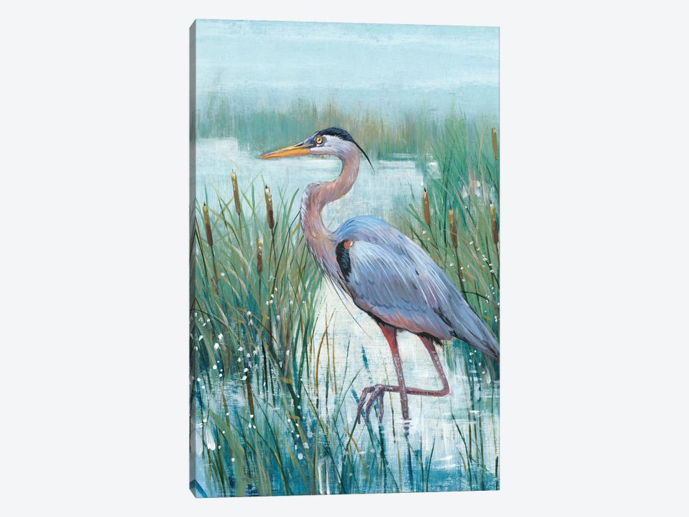 Marsh Heron II 1-piece Canvas Wall Art