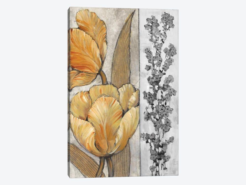 Ochre & Grey Tulips III by Tim OToole 1-piece Canvas Artwork