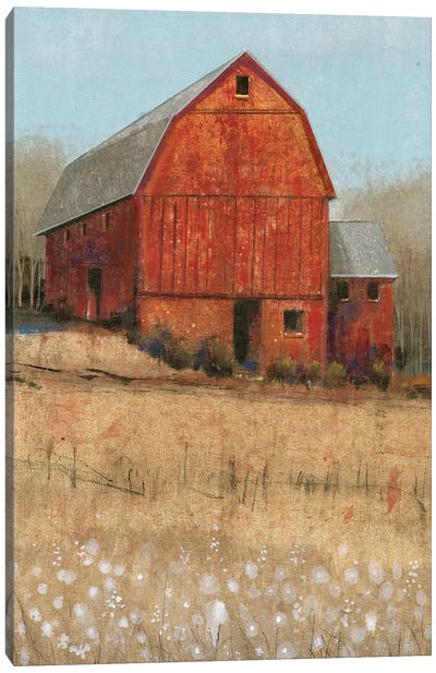 Red Barn View I Canvas Art Print