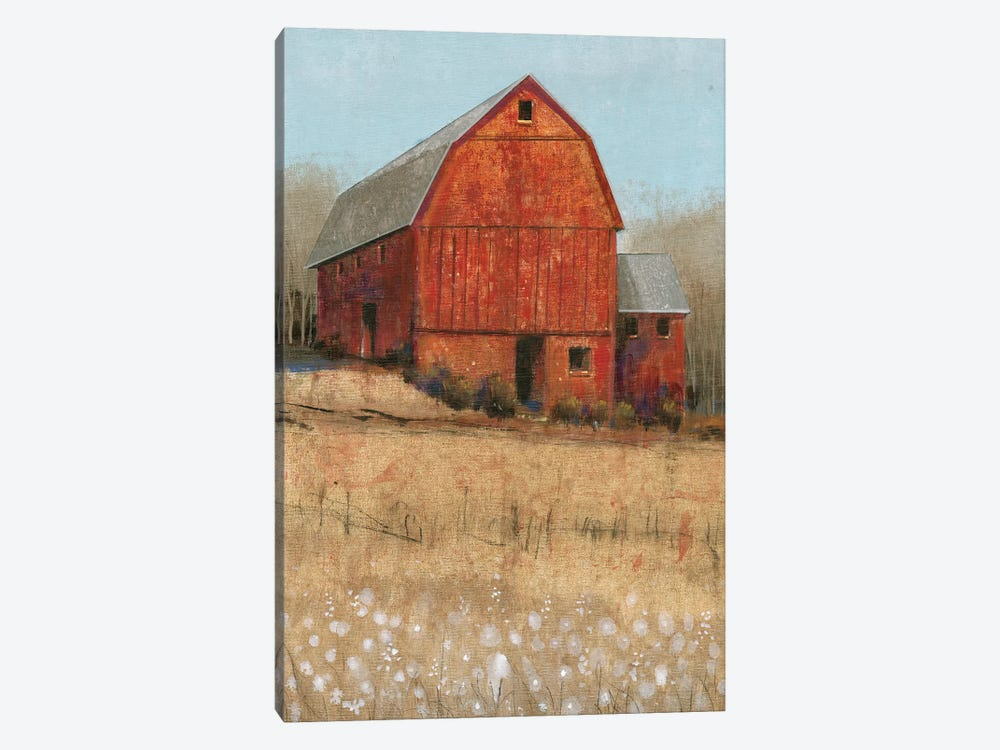 Red Barn View I by Tim O'Toole 1-piece Canvas Wall Art