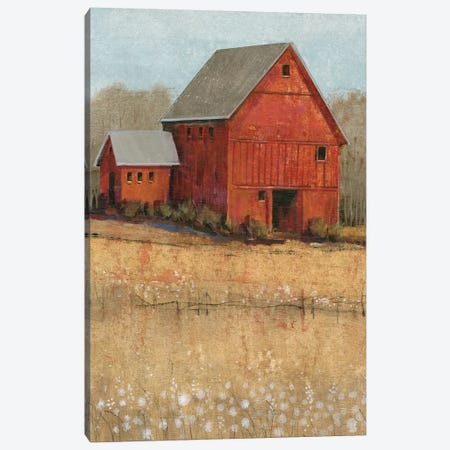 Red Barn View II Canvas Print #TOT263} by Tim OToole Canvas Print