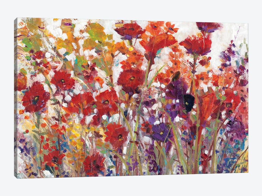 Variety Of Flowers I by Tim OToole 1-piece Canvas Print