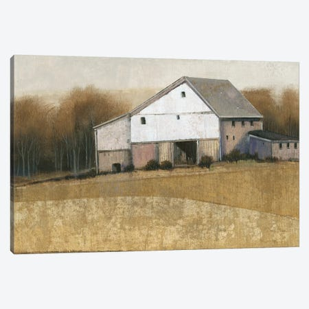 White Barn View I Canvas Print #TOT274} by Tim OToole Canvas Print