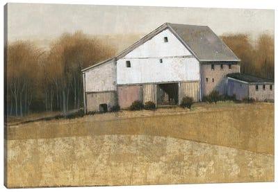 White Barn View I Canvas Art Print