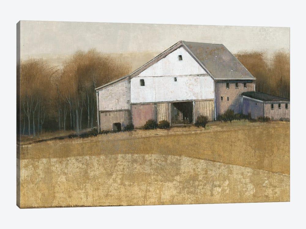 White Barn View I by Tim OToole 1-piece Canvas Art Print