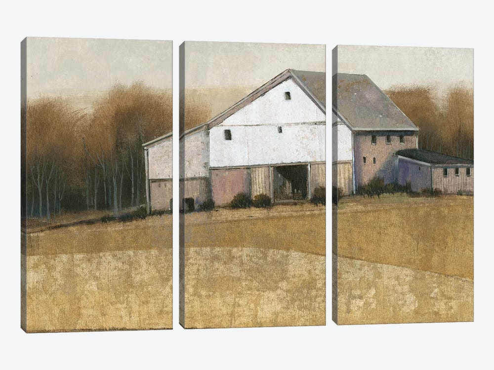 White Barn View I by Tim OToole 3-piece Canvas Art Print