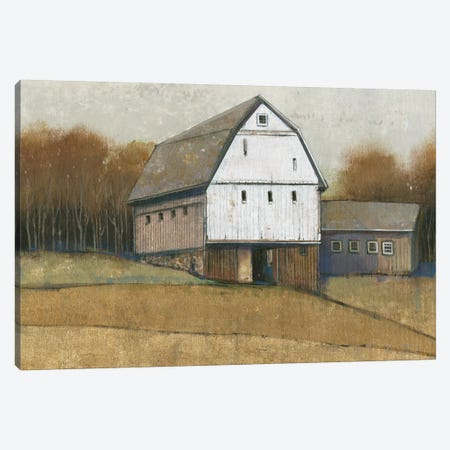 White Barn View II Canvas Print #TOT275} by Tim OToole Canvas Print