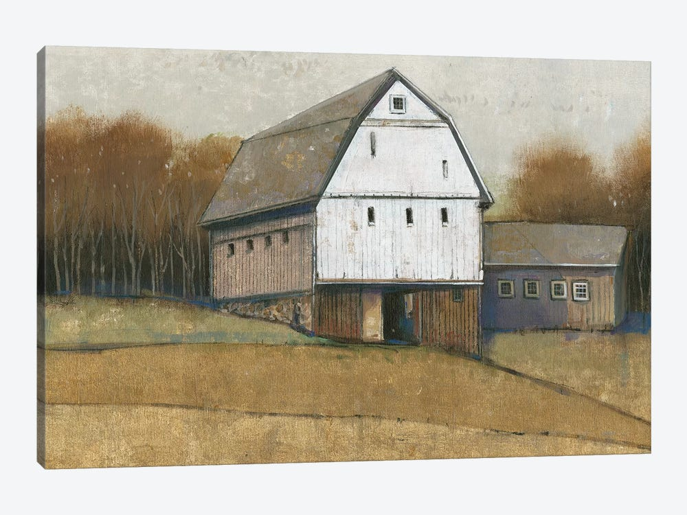 White Barn View II by Tim OToole 1-piece Canvas Artwork