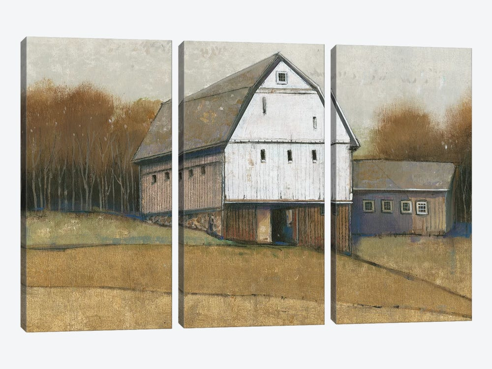 White Barn View II by Tim OToole 3-piece Canvas Art
