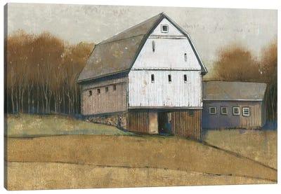 White Barn View II Canvas Art Print