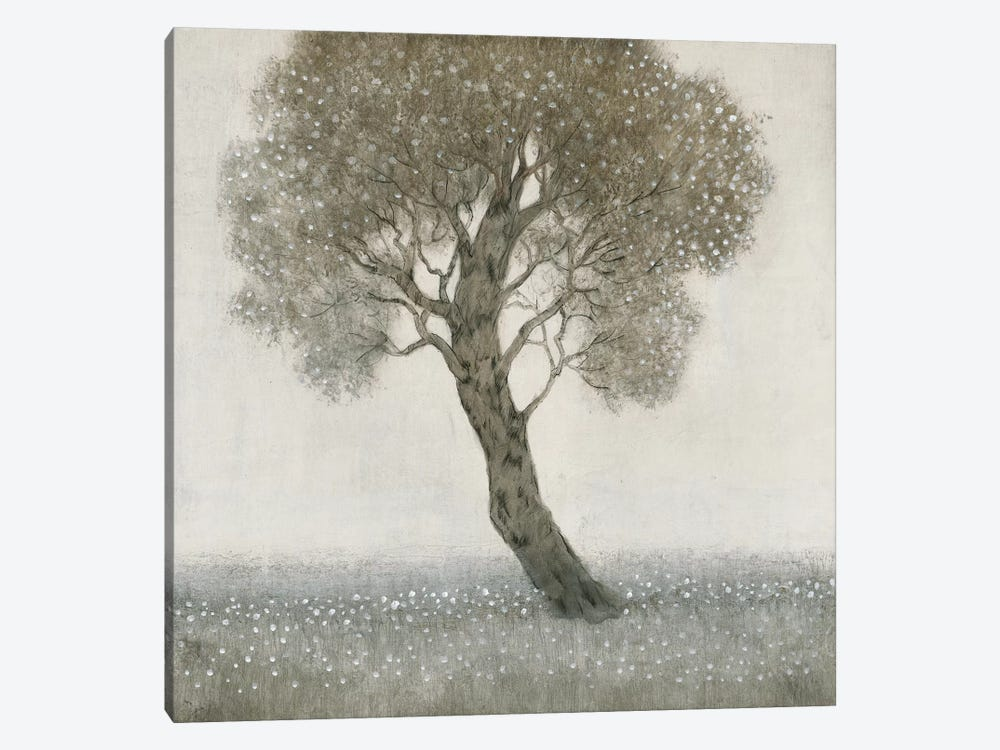 White Blossom Tree 1-piece Art Print