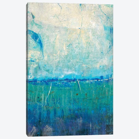 Blue Movement I Canvas Print #TOT279} by Tim OToole Canvas Art