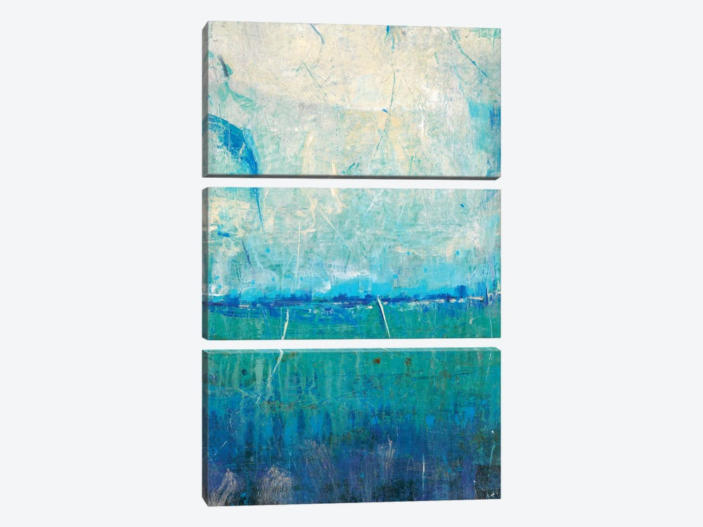 Blue Movement I by Tim OToole 3-piece Canvas Wall Art